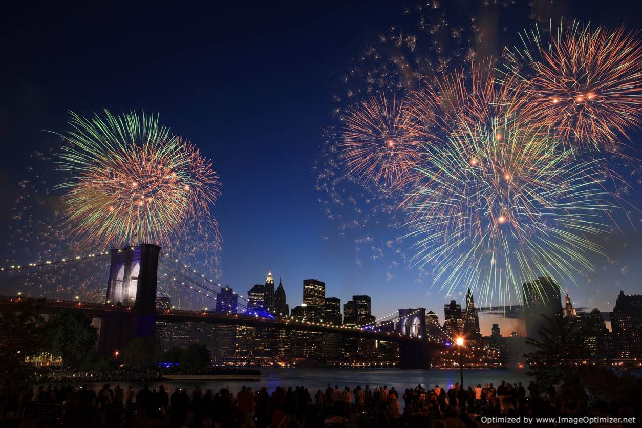 Spectacular Fireworks in the New York